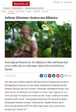 Kurier - Seltene Zitronen-Sorten aus Kärnten