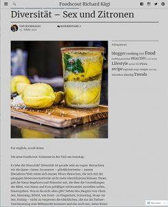 Diversität - Sex und Zitronen - Foodscout Richard Kägi